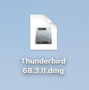 Thunderbird(サンダーバード)のダウンロードファイルを選択