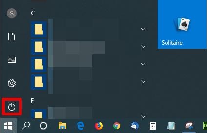 Windows10の「電源」を選択する