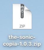 ダウンロード済みのthe-sonic-copia-○.○.○.zip