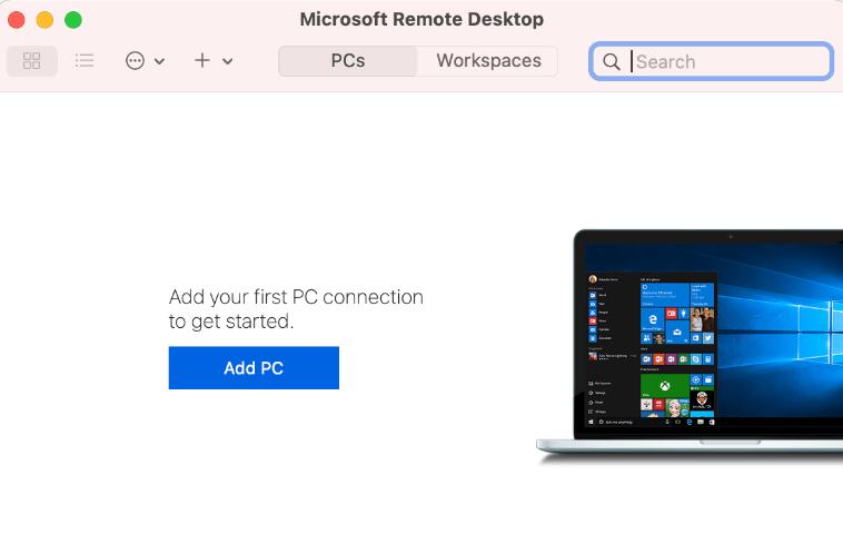 Microsoft Remote Desktopの起動
