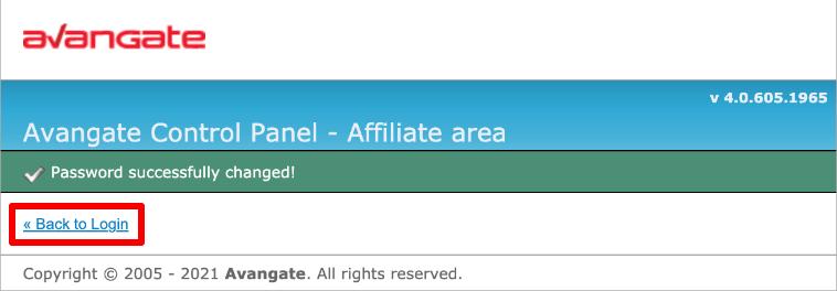 Avangateのログイン画面へ戻る